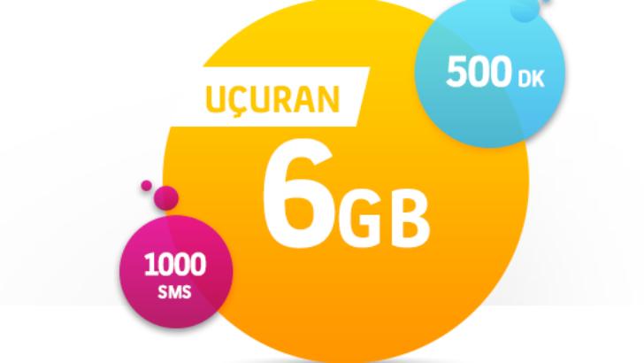 Turkcell Uçuran 6 GB Tarifesi