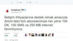 Vodafone Bedava Dakika Paketi ve Sms Paketi