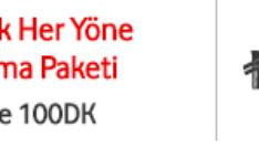 Vodafone Haftalık Dakika Her Yöne Konuşma Paketi