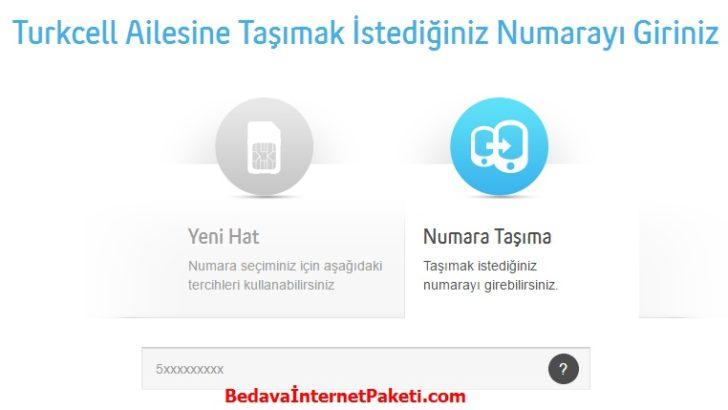 Turkcell Numara Taşıma 8 GB Bedava İnternet 2017