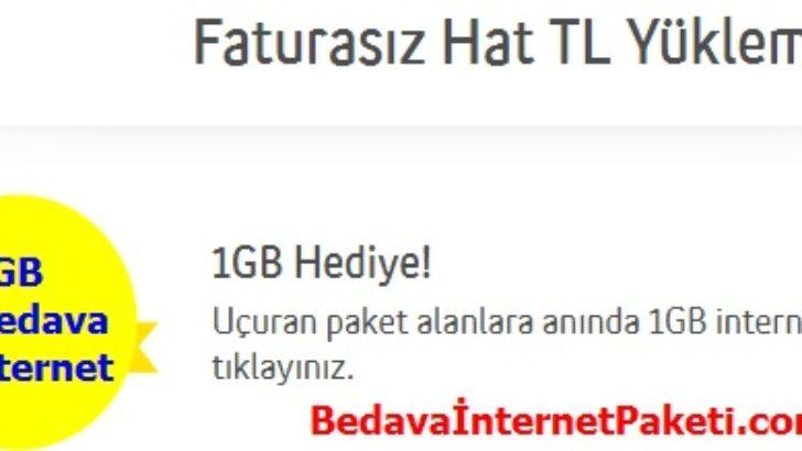 Turkcell Uçuran Paket 1 GB Bedava İnternet Paketi