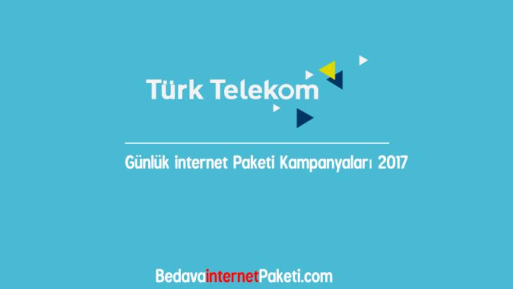 Türk Telekom Günlük internet Paketleri 2017