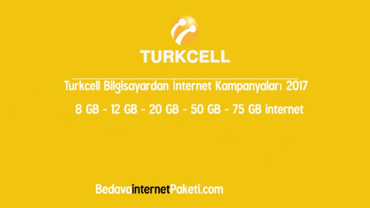Turkcell Bilgisayardan Sınırsız İnternet Paketi Kampanyaları