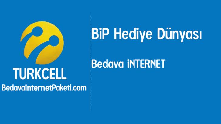 Turkcell BiP Hediye Dünyası Bedava İnternet Kampanyası
