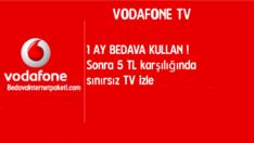 Vodafone TV Sınırsız Bedava İnternet Paketi
