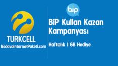 Turkcell BiP Haftalık 1 GB Bedava internet Paketi 2017