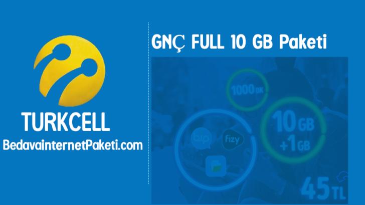 Turkcell GNÇ Full 10 GB Tarifesi – 1 GB Bedava internet Paketi