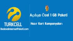 Turkcell Açılışa Özel 1 GB Bedava internet Paketi
