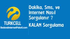 Turkcell Dakika, Sms ve internet Paketi Sorgulama