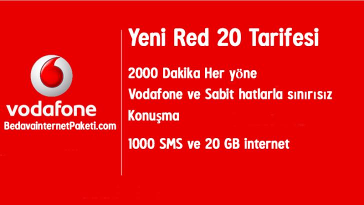 Vodafone Red 20 Tarifesi – 20 GB internet Paketi