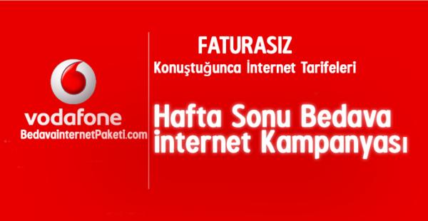 Vodafone Konuştuğunca Bedava internet Tarifesi
