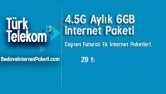 Türk Telekom 4.5G Aylık 6 GB internet Paketi
