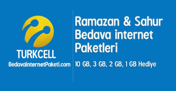 Turkcell Ramazan – Sahur Bedava internet 2017