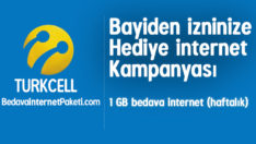 Turkcell Bayiden İzninize 1 GB Bedava İnternet Kampanyası