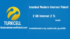 Turkcell istanbul Modern 2 GB internet Paketi 2 TL