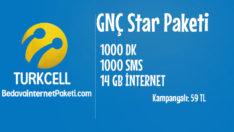 Turkcell GNÇ Star Tarifesi – 14 GB internet Paketi
