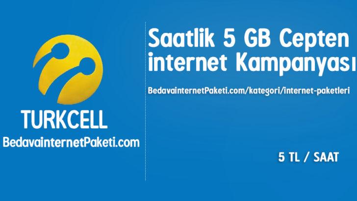 Turkcell Saatlik 5 GB Cepten internet Paketi