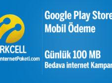Turkcell Google Play Store Mobil Ödeme Bedava internet