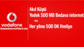 Vodafone Akıl Küpü Yedek 500 MB Bedava internet Paketi
