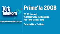 Türk Telekom Prime 20 GB internet Paketi