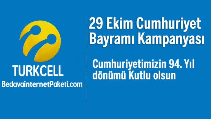 Turkcell 29 Ekim Cumhuriyet Bayramı Bedava internet