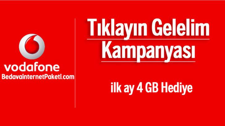 Vodafone ilk Ay 4 GB Bedava internet Kampanyası