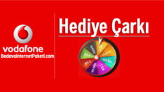 Vodafone Hediye Çarkı Bedava internet