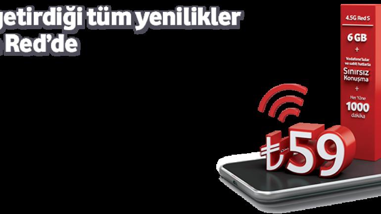 Vodafone Faturalı 4.5G Red S Tarifesi