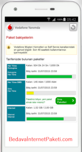 Vodafone Paket Sorgulama Faturalı Faturasız