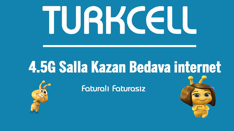Turkcell Salla Kazan 10 GB Bedava İnternet