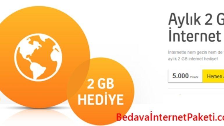 Turkcell Aylık 2GB Bedava İnternet