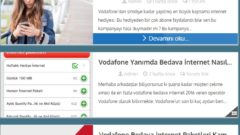 Vodafone 3 Ay 1 GB Bedava İnternet 2017