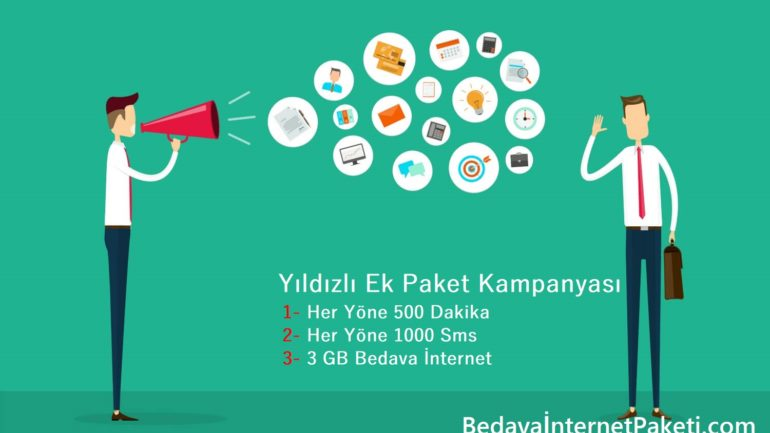 Turkcell 500 Dakika, 1000 Sms, 3 GB Bedava İnternet 2017