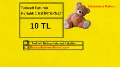 Turkcell Haftalık Ek 1 GB İnternet Paketi