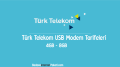 Türk Telekom USB Modem İnternet Tarifeleri Kampanyası