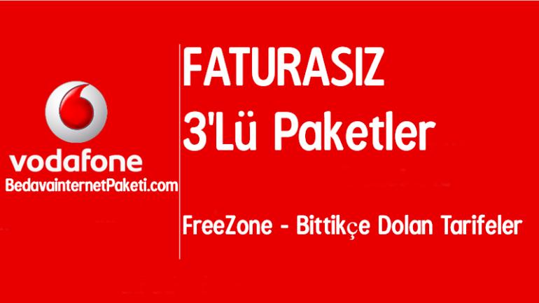 Vodafone Faturasız 3 Lü Paketler 2018