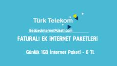 Türk Telekom Günlük 1 GB internet Paketi 6 TL