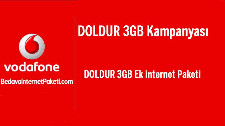 Vodafone DOLDUR 3GB İnternet Nasıl Yapılır / İptal Edilir