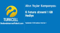 Turkcell Altın Yaşlar 1 GB Bedava internet
