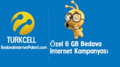 Turkcell Yeni Hat 6 GB Bedava internet Paketi