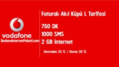 Vodafone Akıl Küpü L Tarifesi – 2 GB internet Paketli