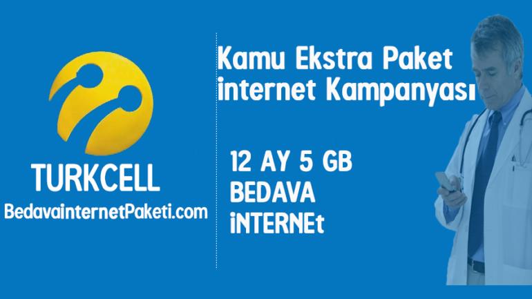 Turkcell Kamu Ekstra Paket 5 GB Bedava internet 2017