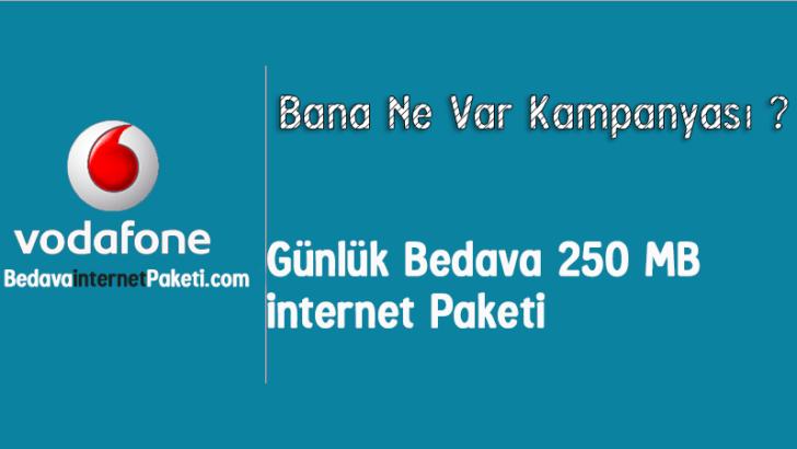 Vodafone Günlük 250 MB Bedava internet Paketi