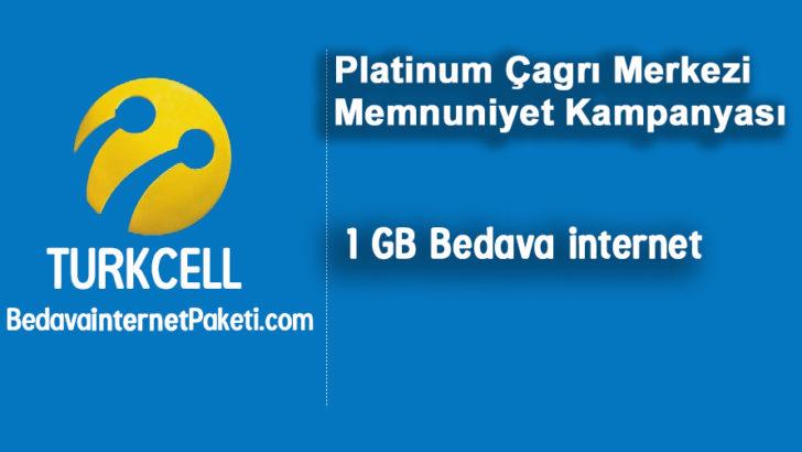 Turkcell Çağrı Merkezi 1 GB Bedava internet Kampanyası