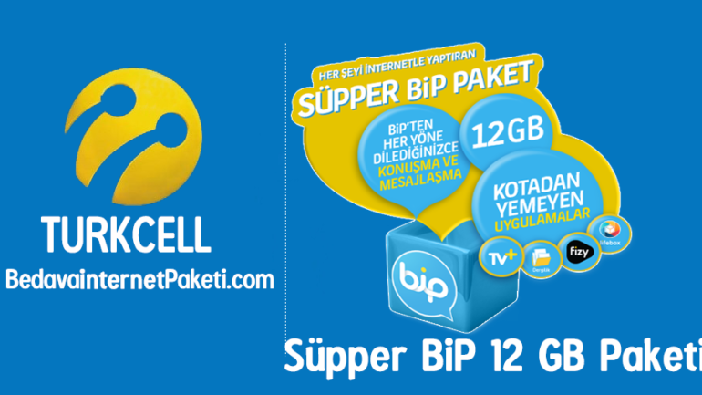 Turkcell BiP 30 GB internet – Süpper BiP 12 GB Paketi