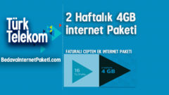 Türk Telekom 4.5G 2 Haftalık Ek 4 GB internet Paketi
