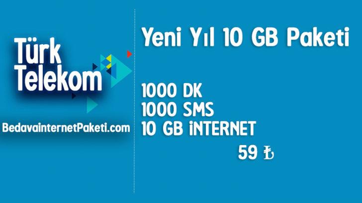 Türk Telekom Yeni Yıl 10 GB internet Paketi