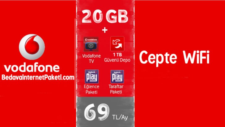 Vodafone Cepte Wifi 20 GB internet Paketi