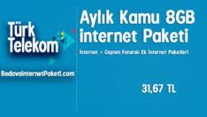Türk Telekom Aylık Kamu 8 GB internet Paketi
