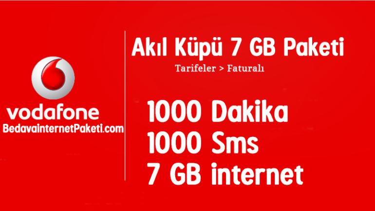 Vodafone Akıl Küpü 7 GB Tarifesi – 7 GB internet Paketi